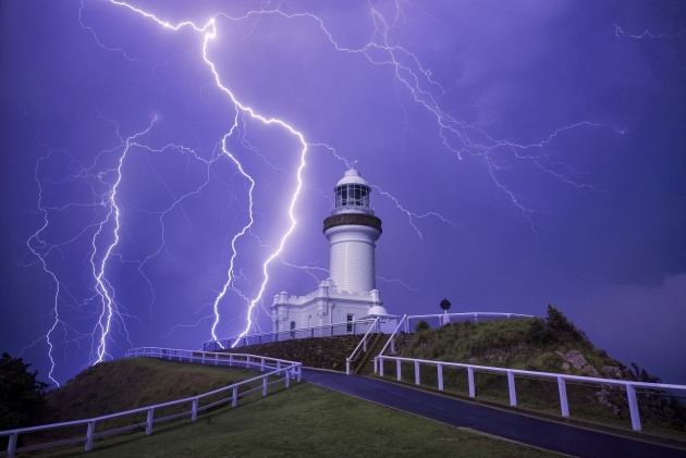 Byron Lighthouse, NSW. Of all the lightning strikes I've captured this one still has my ears ringing. This was a single frame and the noise that accompanied this strike was deafening. I used the fence line as a leading line into the frame. Nikon D810, 16-35mm f/4 lens @ 26mm, 20s @ f/9, ISO 200.