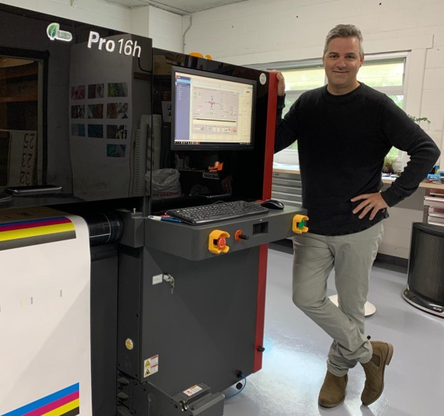 Speed to market: Fraser McEwen, Eyetonic, with the new EFI 16h hybrid printer