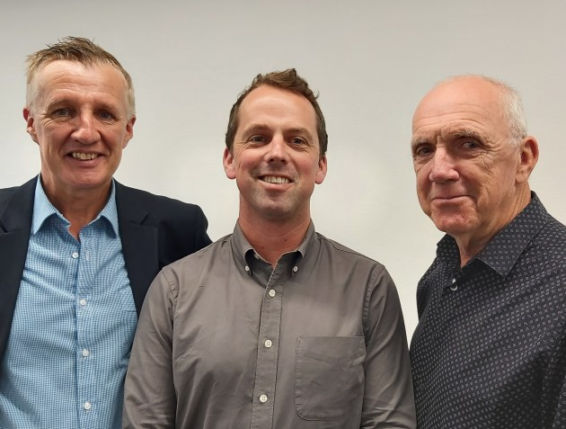 New deputy editor: Ian Ackerman (centre) joins editor-at-large Patrick Howard (right) and editor Wayne Robinson (left) on the Print21 editorial team