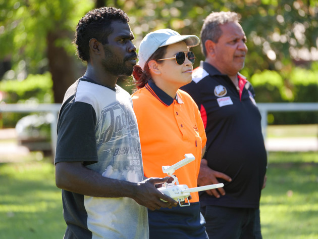 The course is a landmark for Indigenous engagement in UAS industry in the NT. Credit: Six Seasons