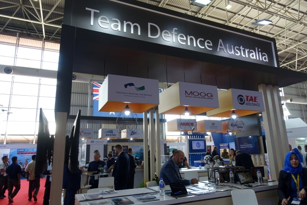 The Team Defence Australia stand at LIMA 19.  Nigel Pittaway