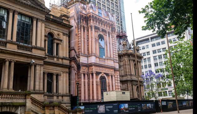 Big wrap: Mesh Direct at Sydney Town Hall