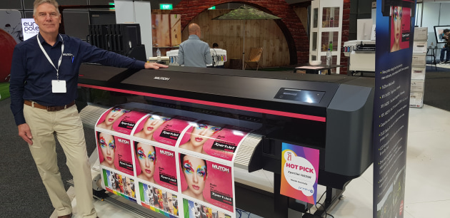 New Xpert prrinters from Mutoh: Russell Cavenagh at PrintEx