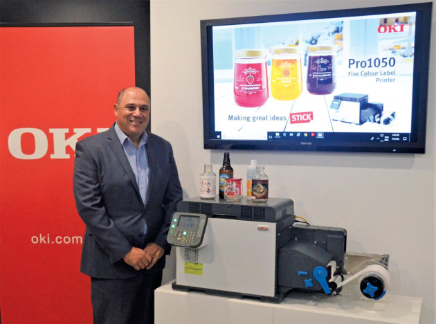 Freedom and flexibility: Tony Grima general manager – sales and marketing, OKI Australia, with the new OKI Pro Series