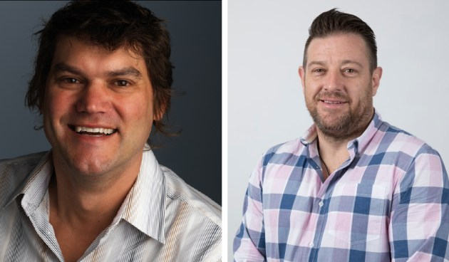 Peter Orel's Finsbury Green (left) has bought the client list of Waratah Group, run by CEO Brett Chalmers (right), which has entered voluntary administration.