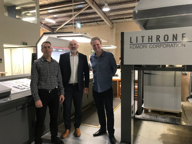 New long perfector: Printgraphics directors (l-r) Mark Terrill, Nigel Quirk and Sam Keen