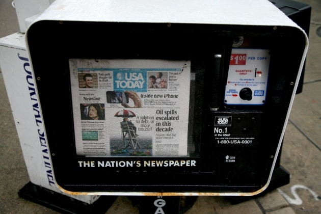 USA Today may be ending its print editions.
