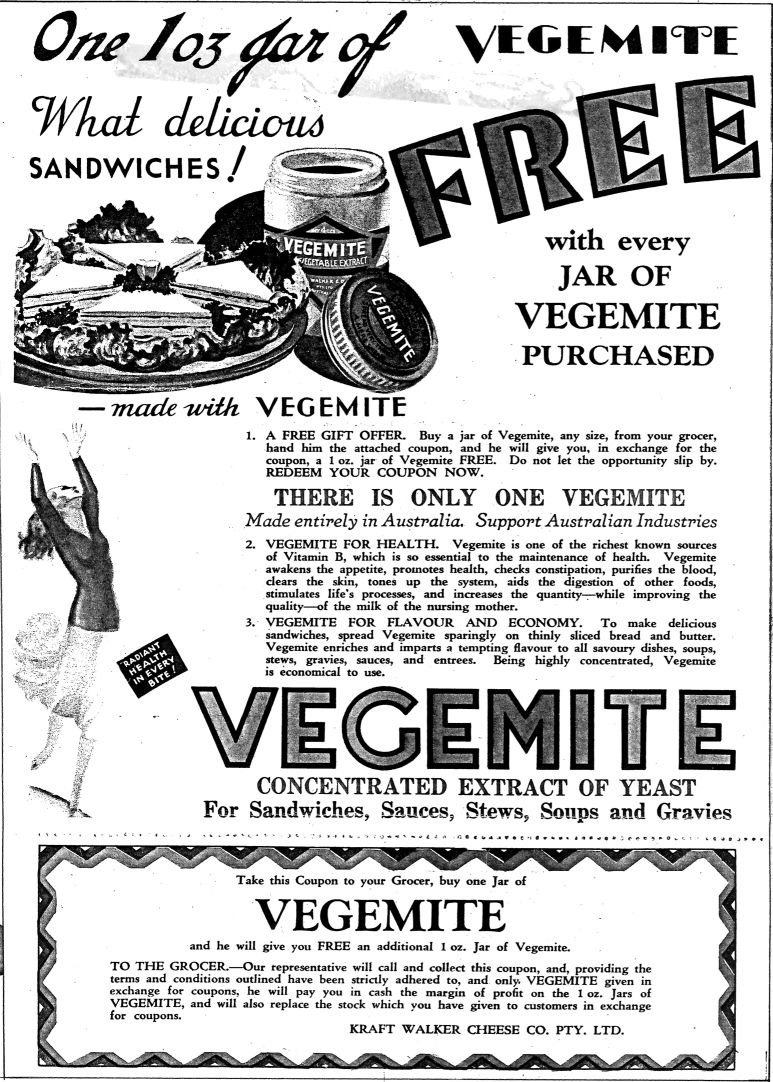 Vegemite in the 20s