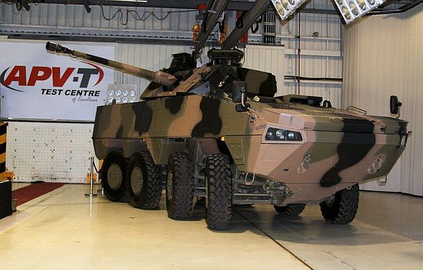 The AMV35 on show at APV Safety Product's facility in Campbellfield, on Melbourne's northern outskirts. Credit: ADM Nigel Pittaway