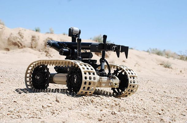 The Dragon Runner 10 (DR-10) Micro Unmanned Ground Vehicle (MUGV) is a lightweight, compact, multi-mission remote platform developed for supporting small unit dismounted operations.