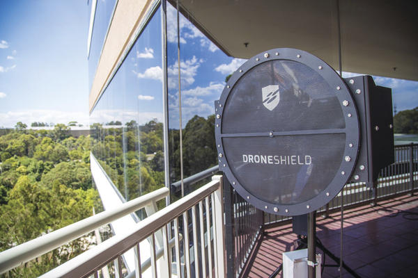 DroneShield's acoustic dish sensors can detect signatures to a range of about one kilometre and cover an arc of 30 degrees.