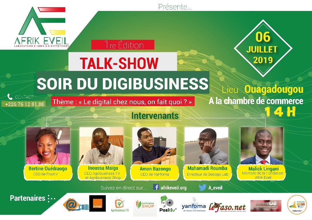« Soir du digibusiness » : Burkinabe digital market, blockchain and cryptomonaie, agriculture, opendata are on the menu