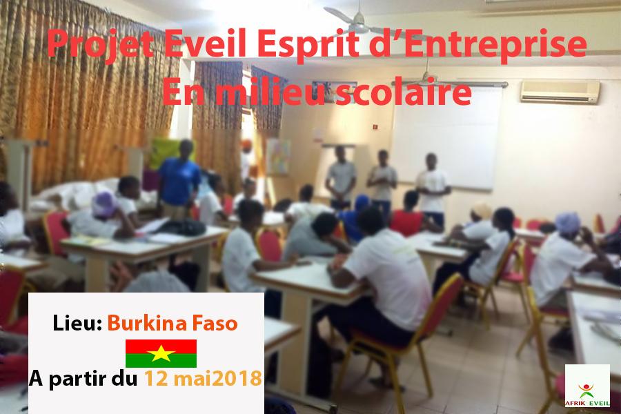Afrik Eveil Foundation Entrepreneurship Project 2018: Burkina Faso 1st and Tle students trained in entrepreneurship
