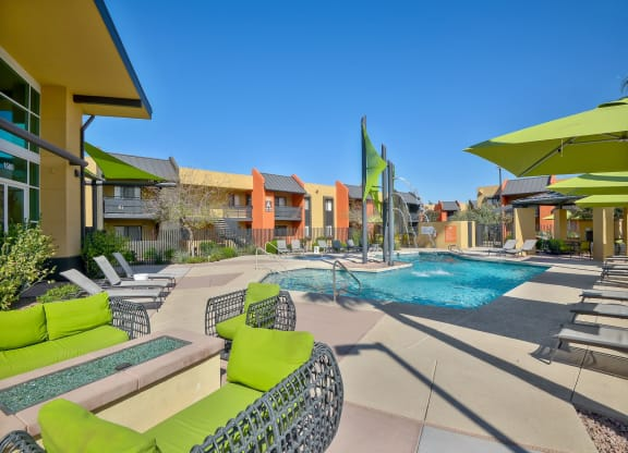 Sparking Resort-style pool and sundeck