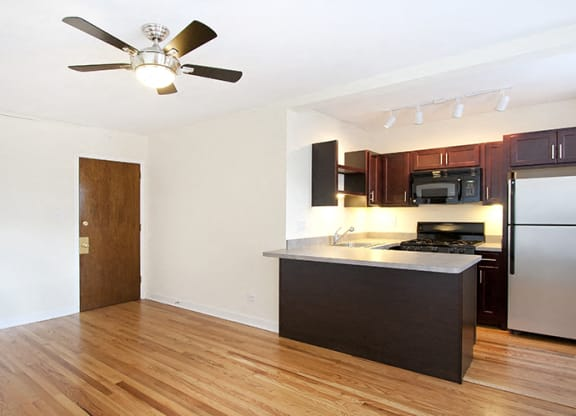 Spacious Kitchen at Reside at Belmont Harbor, Chicago, IL,60657