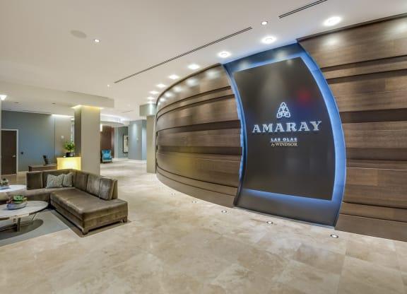 Elegant Lobby at Amaray Las Olas by Windsor, Fort Lauderdale, 33301