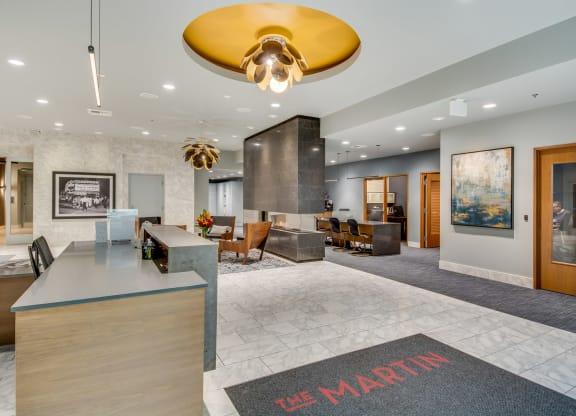 Elegant Lobby at The Martin, Seattle, WA