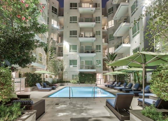Resort-Inspired Pool at Olympic by Windsor, Los Angeles, 90015
