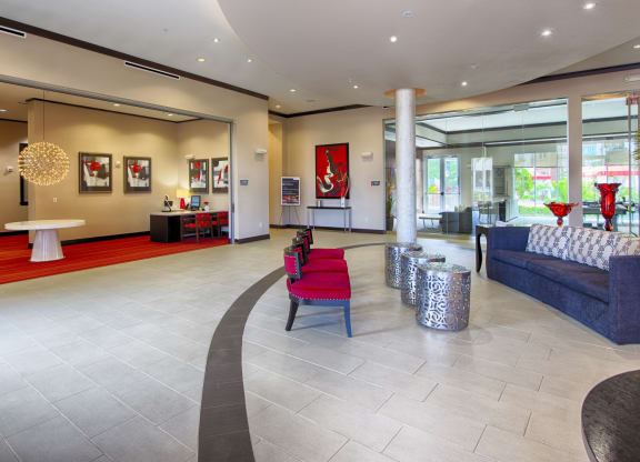 Grand Lobby Entrance At Domain by Windsor,1755 Crescent Plaza, Houston, TX 77077 Grand Lobby Entrance