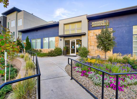 Gorgeous landscaping at Element 47 by Windsor, Denver, CO