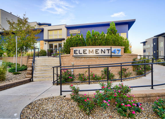Stairs and ramp in front of office at Element 47 by Windsor, CO, 80211