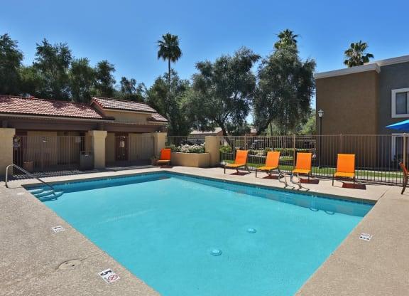 Swimming Pool with Pool Furniture
