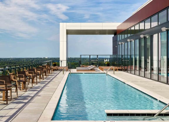 Sprawling Olympic-Length Pool at 7770 Norfolk, Bethesda, Maryland