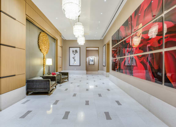 Gorgeous lobby at The Ashley UWS Luxury Apartments, at The Ashley Apartments, New York, 10069