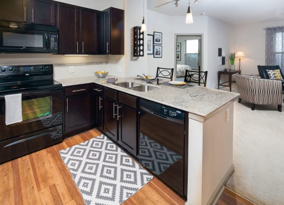 Granite Counters and Tile Backsplashes at Windsor at Glenridge, Georgia, 30342