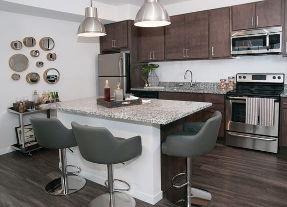 Modern Kitchens At C&E Living Apartments In St Paul, MN