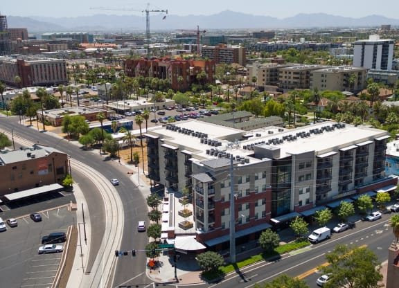 Exterior View Of Union at Roosevelt Apartment Building In Phoenix, AZ
