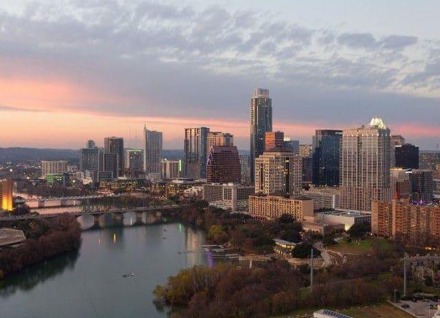 Stunning views of the Austin skyline