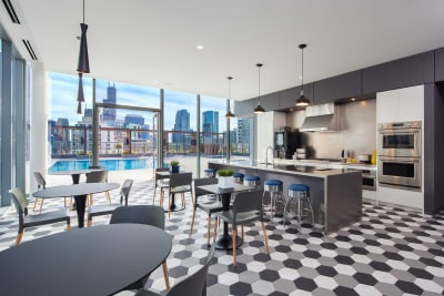 Expansive Amenity Spaces at 640 North Wells, Chicago, IL