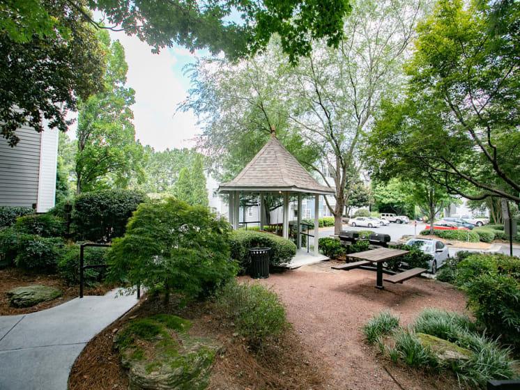 Garden with a Gazebo at The Prato at Midtown, Atlanta, 30308