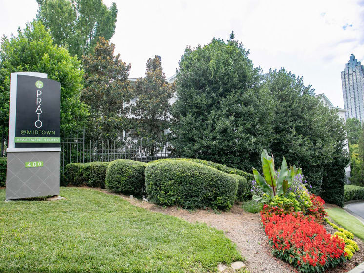Beautiful Landscaping at The Prato at Midtown, Atlanta, GA 30308