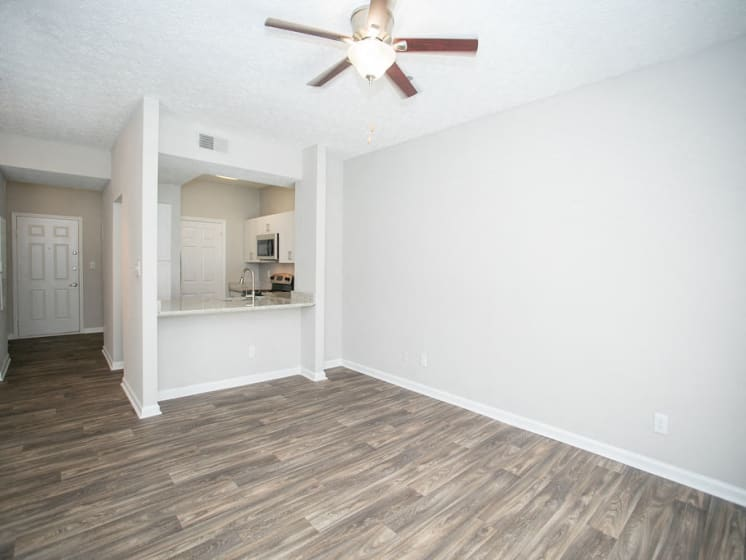 Open Concept Living Room at The Prato at Midtown, Atlanta, 30308