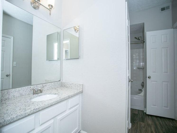 Large Renovated Bathroom at The Prato at Midtown, Atlanta, GA 30308