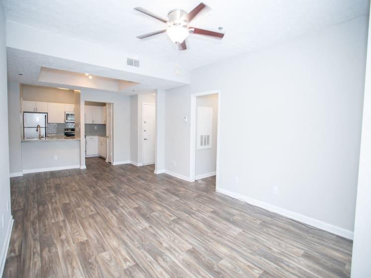 New Kitchen and Living Room Flooring at The Prato at Midtown, Atlanta