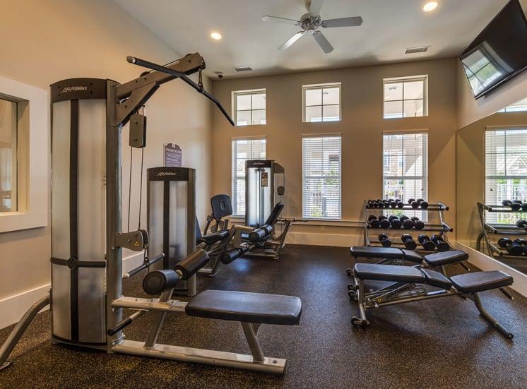 Gym at Pavilion Village Luxury Apartments