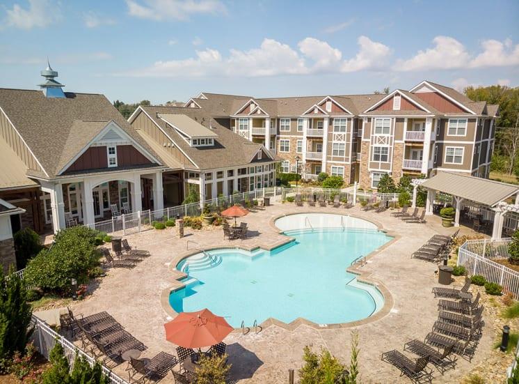 Pool at Pavilion-Village-Apartments---Charlotte-NC