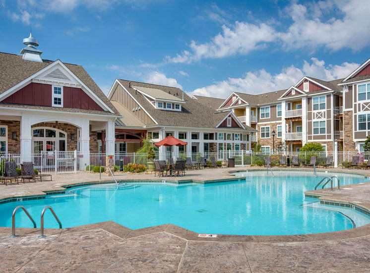 Pool at Pavilion-Village-Luxury Apartments---Charlotte-NC