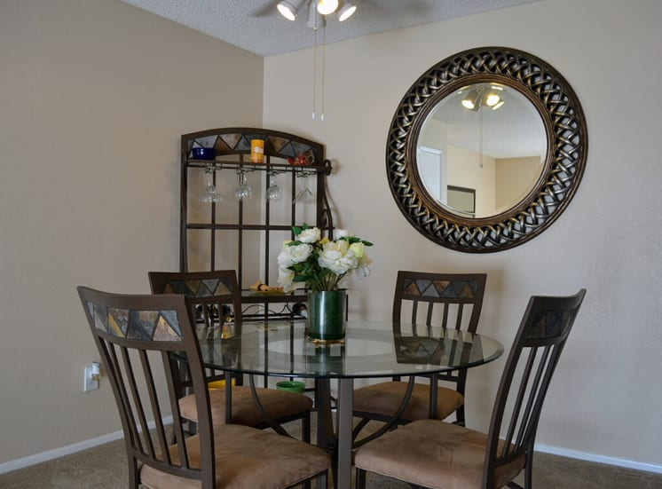 Defined Dining Space at Morning View Terrace Apartments, 439 W El Norte Parkway, Ste 102