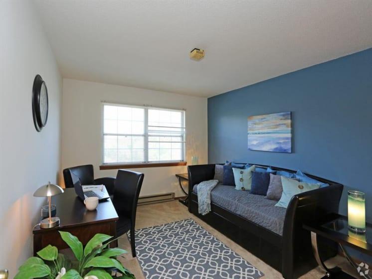 Separate Work Space And A Sofa at Deer Run Apartments, Brown Deer, 53223