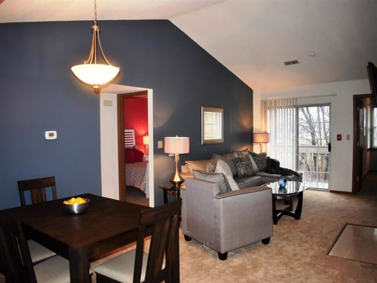 Eating Table Along With Living Area at Deer Run Apartments, Wisconsin, 53223