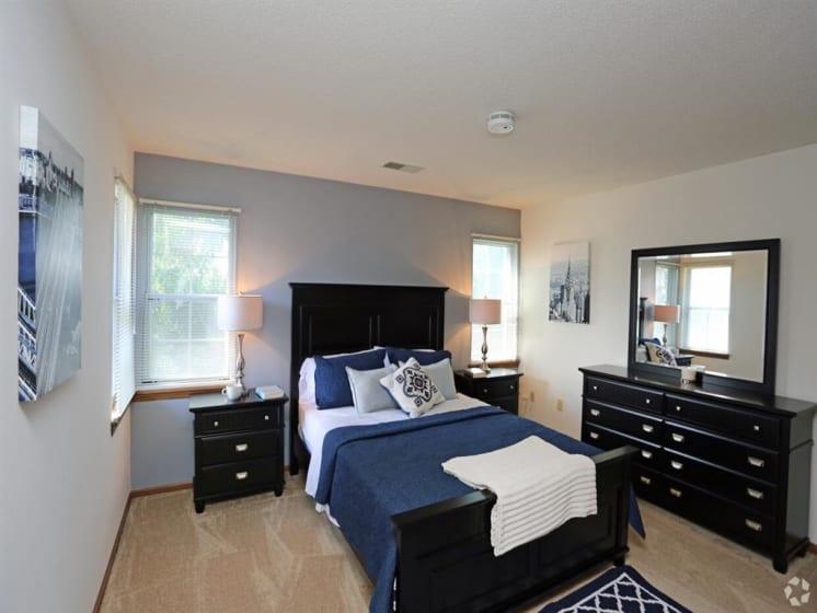 Master Bedroom With Adequate Storage at Deer Run Apartments, Brown Deer, 53223
