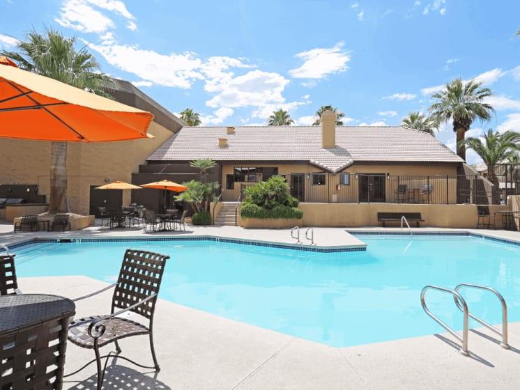 Pool Side Relaxing Area at Village at Desert Lakes, Las Vegas, 89117