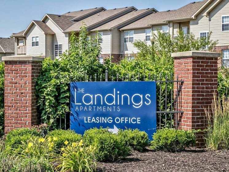 Property Signage at Landings Apartments, The, Bellevue, Nebraska
