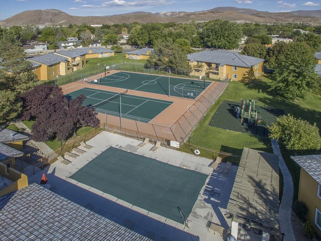 Aerial View of Community, at Village at Iron Blossom Apartment Homes, Reno, NV