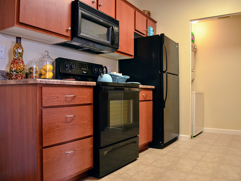 Over-the-Range Microwaves at Sterling Village Apartment Homes, Vallejo, California