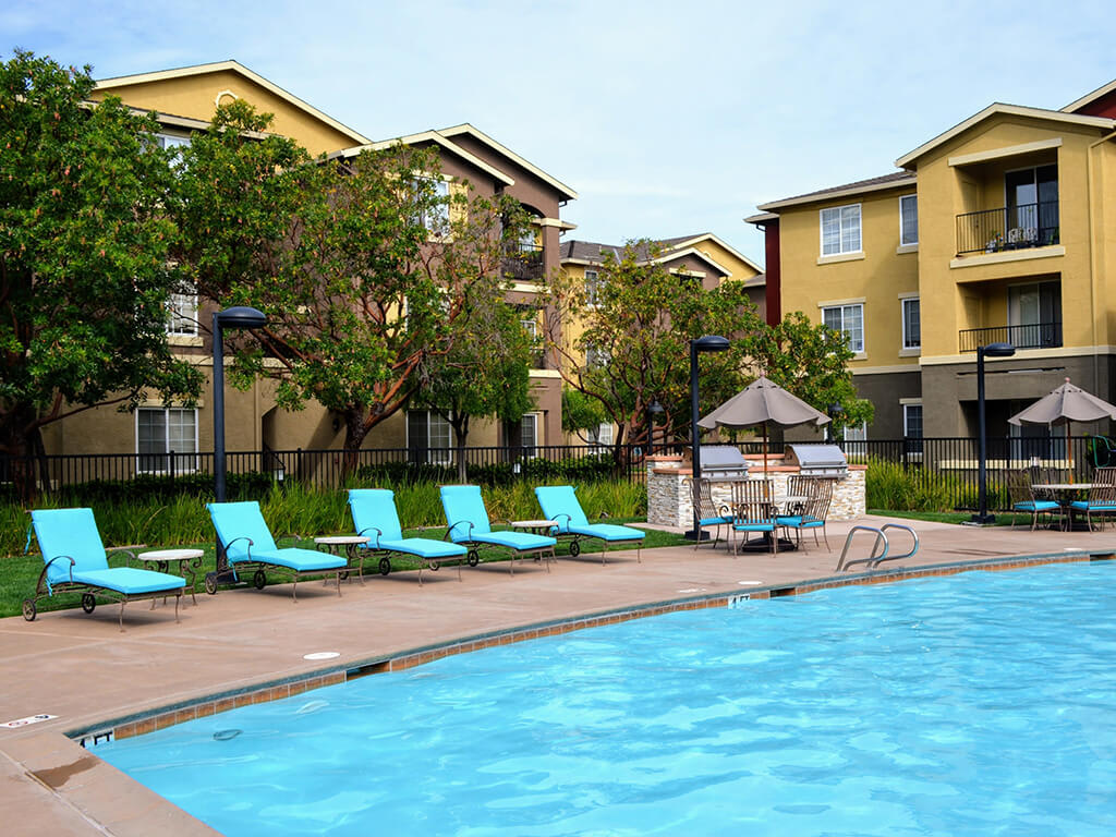 Lounging by the Pool at Sterling Village Apartment Homes, Vallejo, 94590